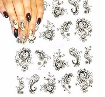 Fashion Flower Nail Stickers BLE 891