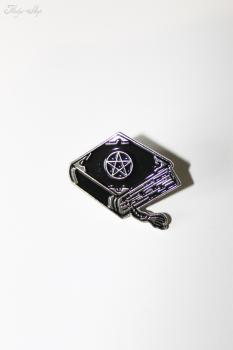 "Anstecker Pin ""Pentagram Book"" Brosche"
