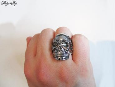 Herren Ring Skull Power
