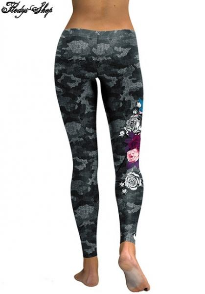 Leggings Skull Head 3D Printed Camouflage