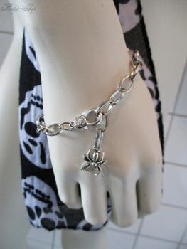 Kettenarmband mit Spinne Silber