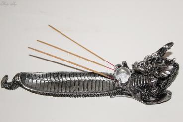 Räucherstäbchenhalter Drache mit Kristallkugel