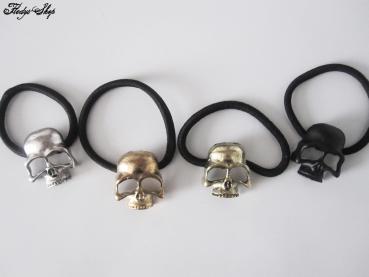 Totenkopf Haargummi Metall Skull