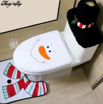Weihnachtsdeko Bad WC Schneeman Verkleidung 3'er Set