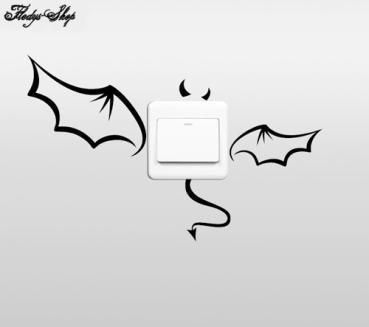 Fledermaus Lichtschalter Steckdose Aufkleber Wand-Tattoo