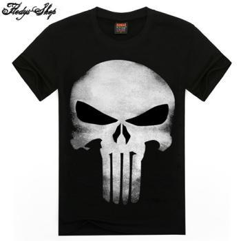 Herren T-Shirt Skull Ghost 3D Druck